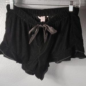 Victoria Secret Velvet Drawstring Shorts